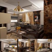 гостиная-кухня Москва