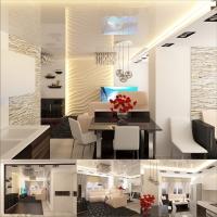 гостиная-кухня квартира