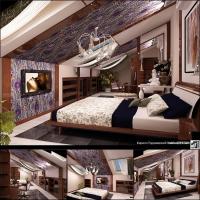 Спальня-мансарда-таунхаус-(Москва)