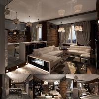 Гостиная-студия-прихожая Москва