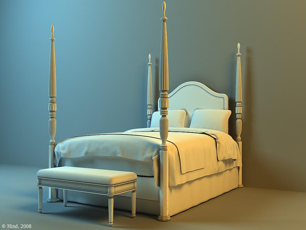 Модель: двуспальная кровать