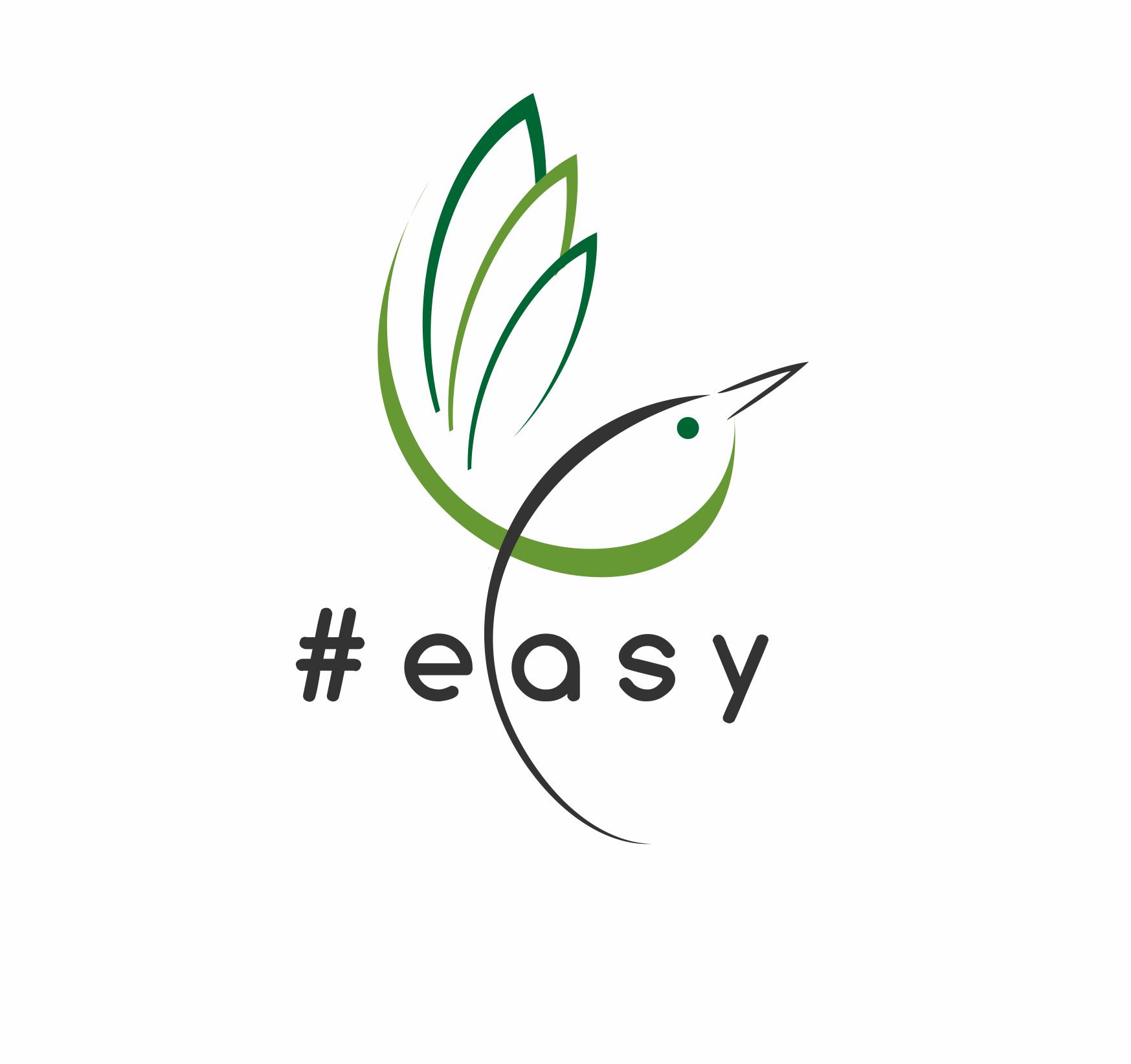 Разработка логотипа в виде хэштега #easy с зеленой колибри  фото f_7155d52865825ef3.png
