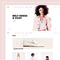 Дизайн главной страницы интернет-магазина одежды EKKI