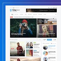 Дизайн всех страниц портала KingNews