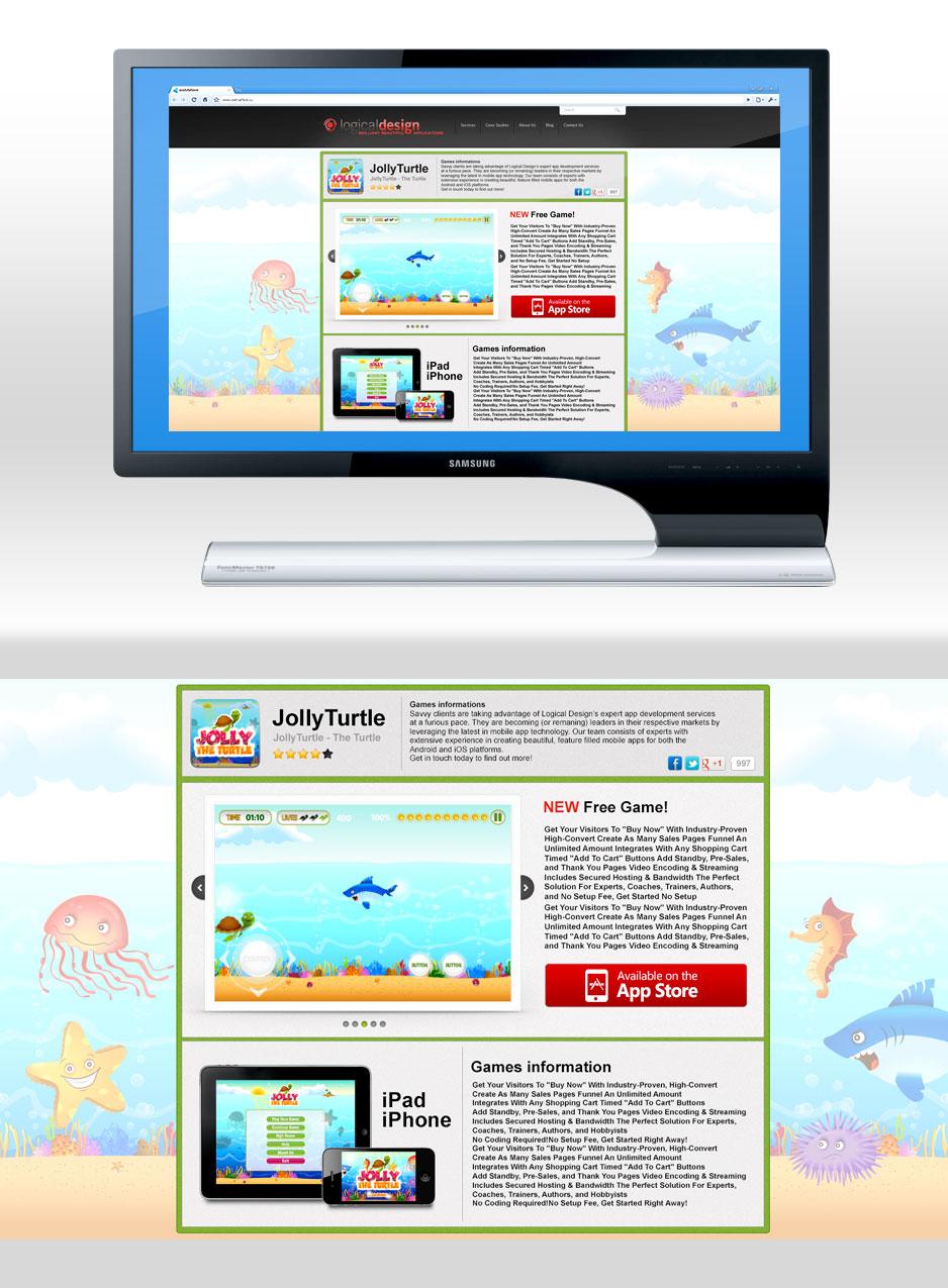 Landing Page для игры на iOs