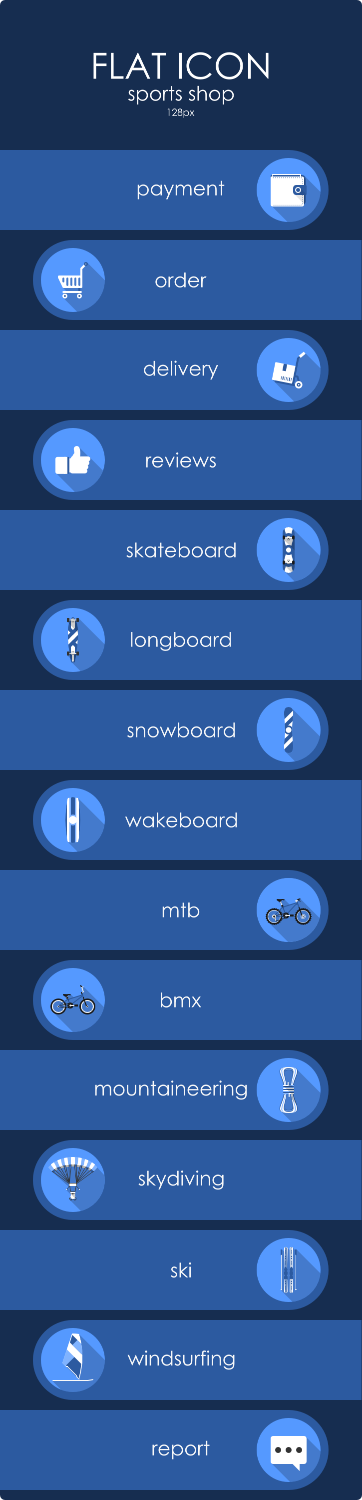 Sports Flat icons