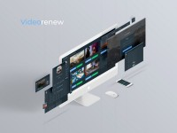 UI/UX дизайн для сервиса Videorenew
