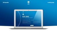 EXO - адаптивный дизайн лендинга криптовалюты