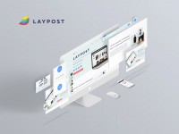 LAYPOST - дизайн лендинга сервиса