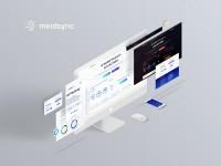 MindSync - дизайн лендинга криптовалюты