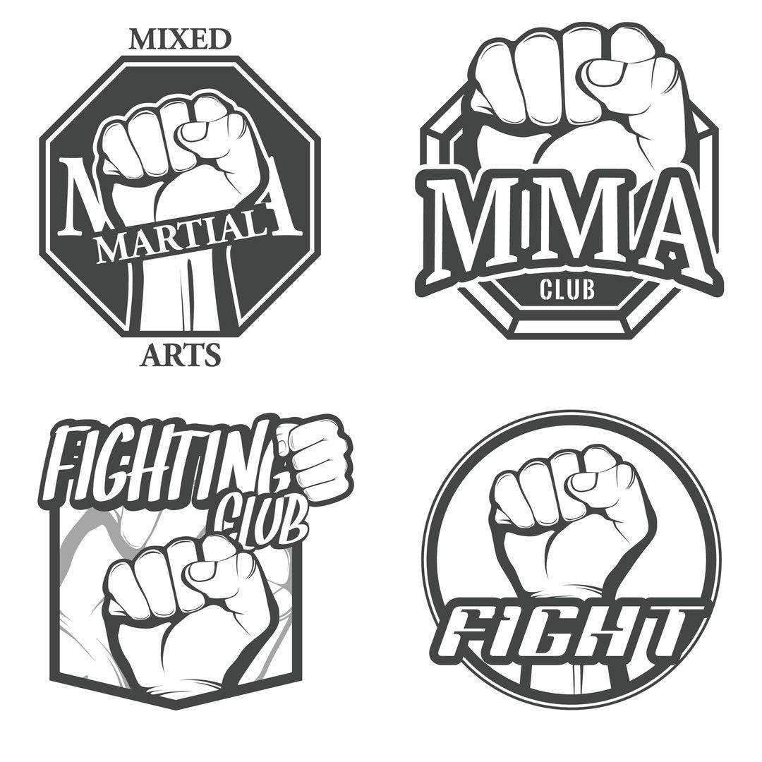 Fight club logos Vector