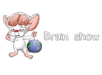 Логотип компании создающих вирусные рекламы. Brain show