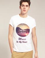 Дизайн футболки Music Is My Drug