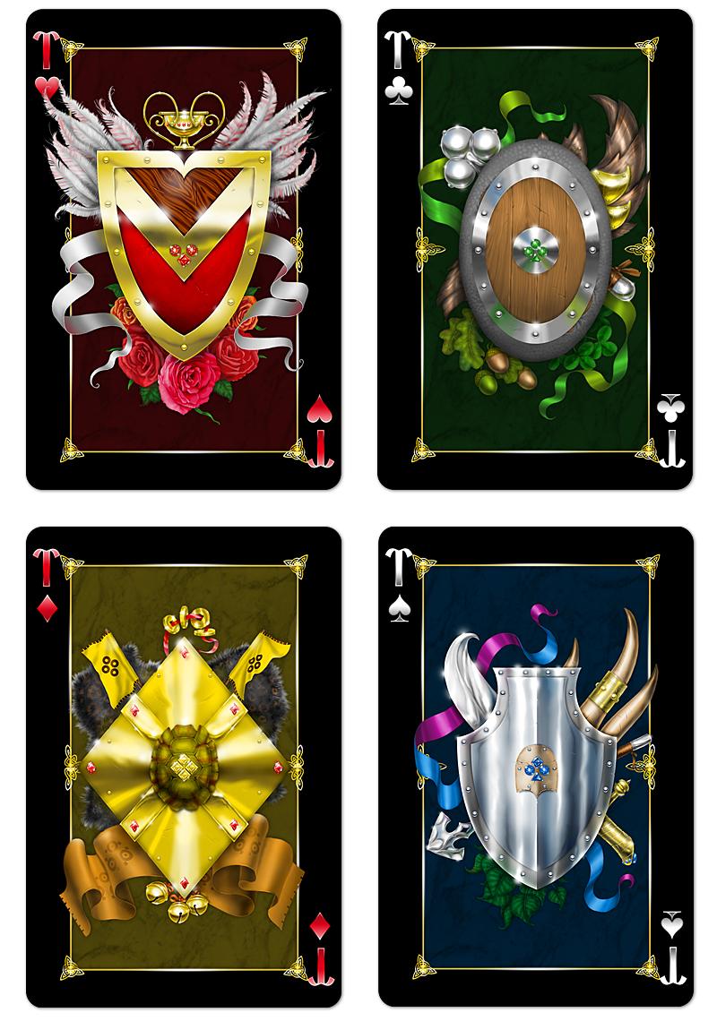 Игральные карты «Animagique». Тузы