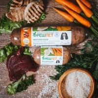 Упаковка для роллов нового бренда натуральной еды для собак Freshpet