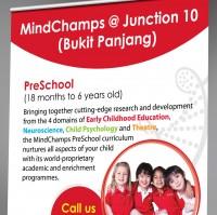 Ролл-ап баннер для MindChamps PreSchool. Сингапур