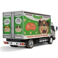Брендинг грузовика компании Minime