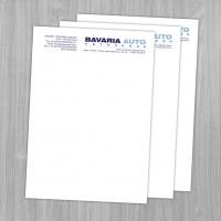 "Фирменный бланк ""Bavaria Auto"""