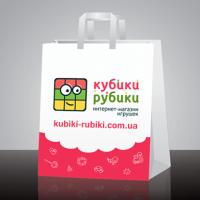 Пакет детского магазина Кубик-рубик