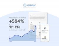 Поисковое продвижение сайта Onyxteam.ru