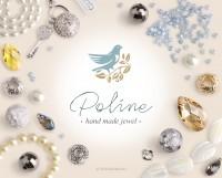 Логотип и стиль для бижутерии Poline Jewel