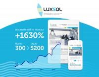 Поисковое продвижение сайта сетевязальной фабрики Люксол