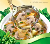 Студийная фотография для упаковки супов и фудстайлинг.