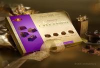 Дизайн упаковки шоколадных конфет «Ассорти премиум» торговой марки «Бисквит-Шоколад»