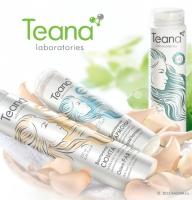 Дизайн упаковки косметики для волос «Соната красоты» для бренда «Теана».