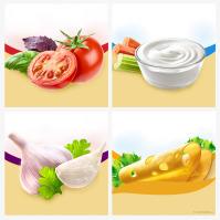 Фотография для упаковки сыра «Альметте» (Almette)