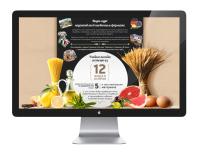 Дизайн Landing Page (Лендинг) для диеты