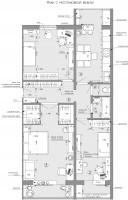 Планировка 3х комнатной квартиры.