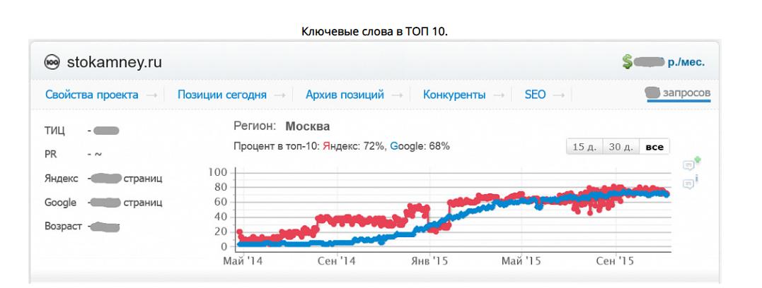 """SEO оптимизация в интернет магазине """"100 камней"""""""