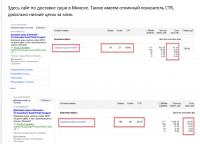 Продажа суши в Минске Яндекс. Директ