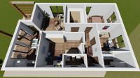 Визуализация 3D планировки квартиры