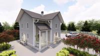 Каркасный дом визуализация