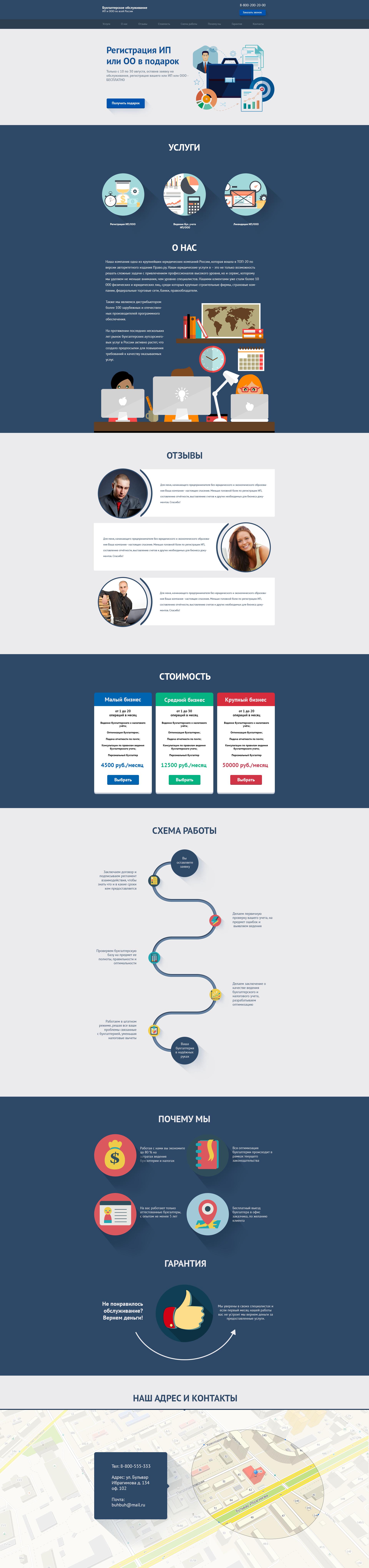 Дизайн Landing Page (flat)