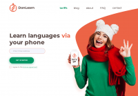 Первый экран для приложения по изучению языка