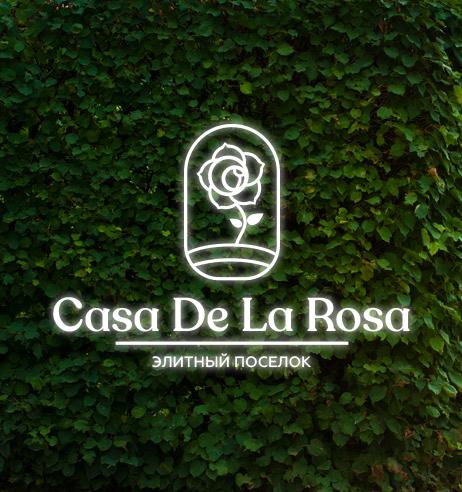 Логотип + Фирменный знак для элитного поселка Casa De La Rosa фото f_4135cd56b24f1b56.png