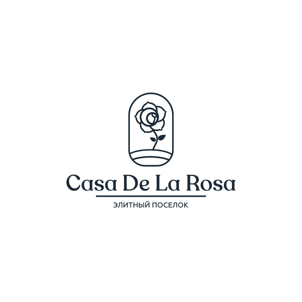 Логотип + Фирменный знак для элитного поселка Casa De La Rosa фото f_5985cd56b1d85e82.png