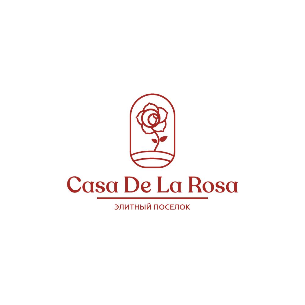 Логотип + Фирменный знак для элитного поселка Casa De La Rosa фото f_7125cd56b13c4b2b.png