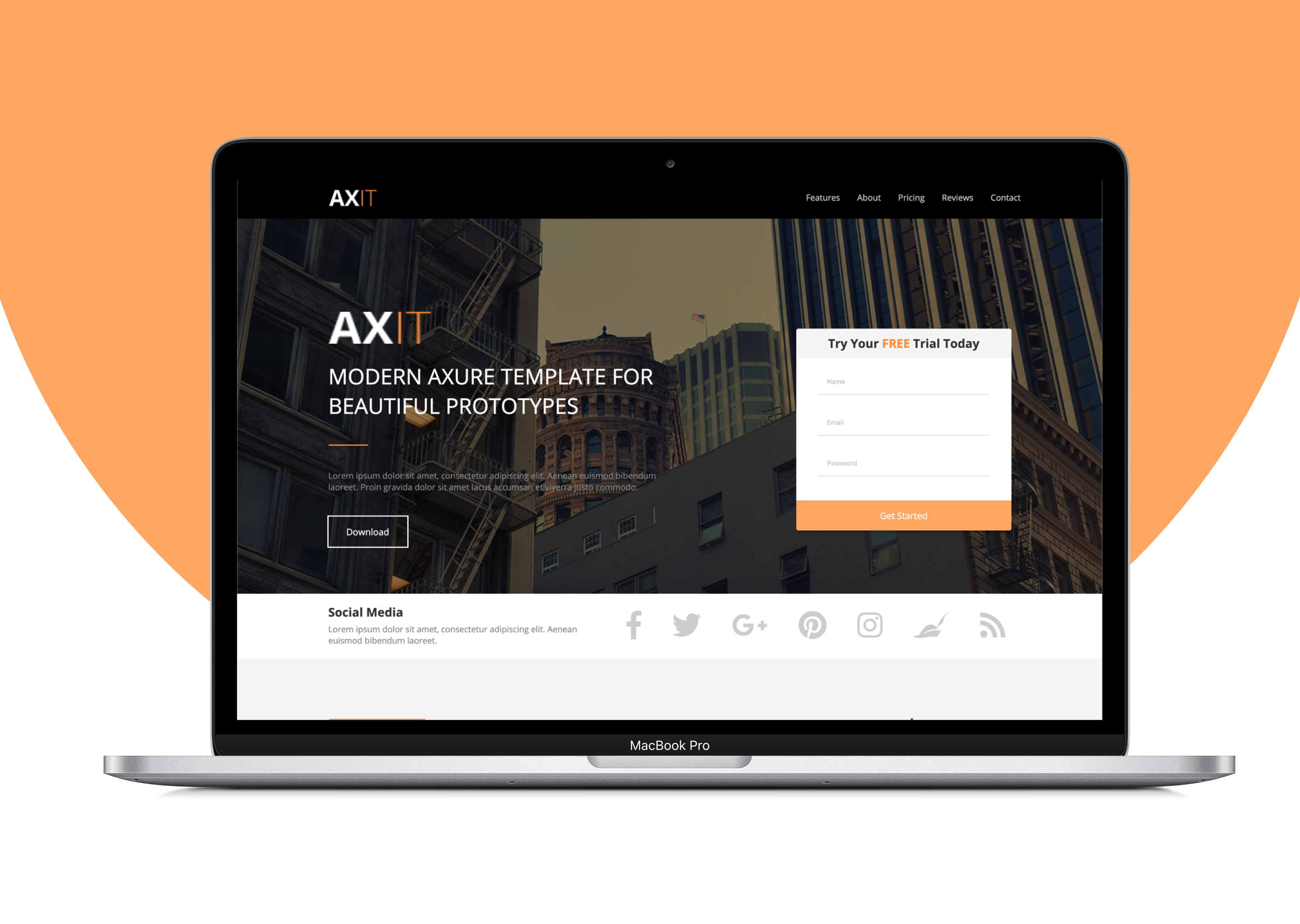 Landing page - AXIT