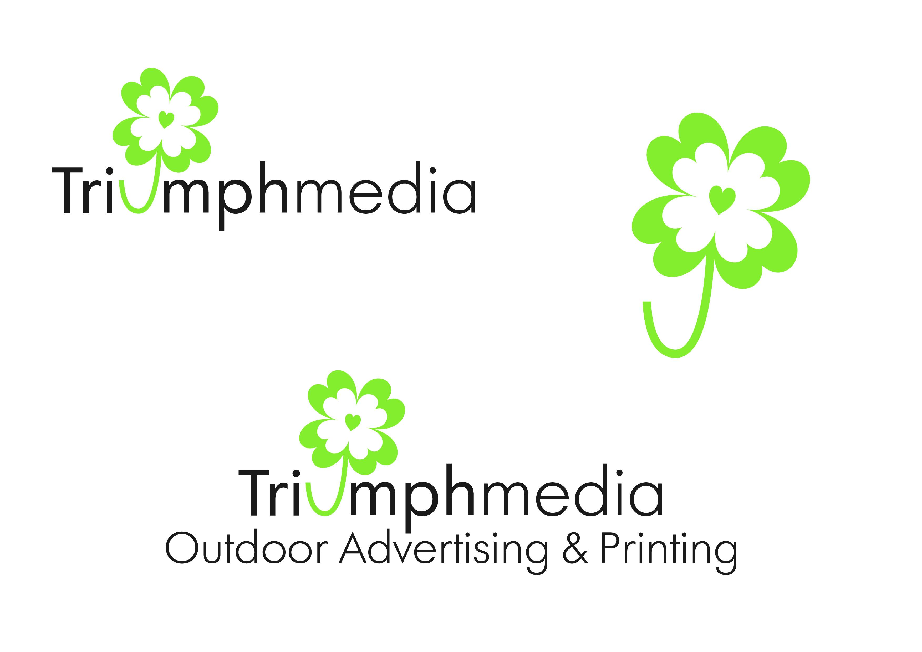 Разработка логотипа  TRIUMPH MEDIA с изображением клевера фото f_5071b028214bf.jpg
