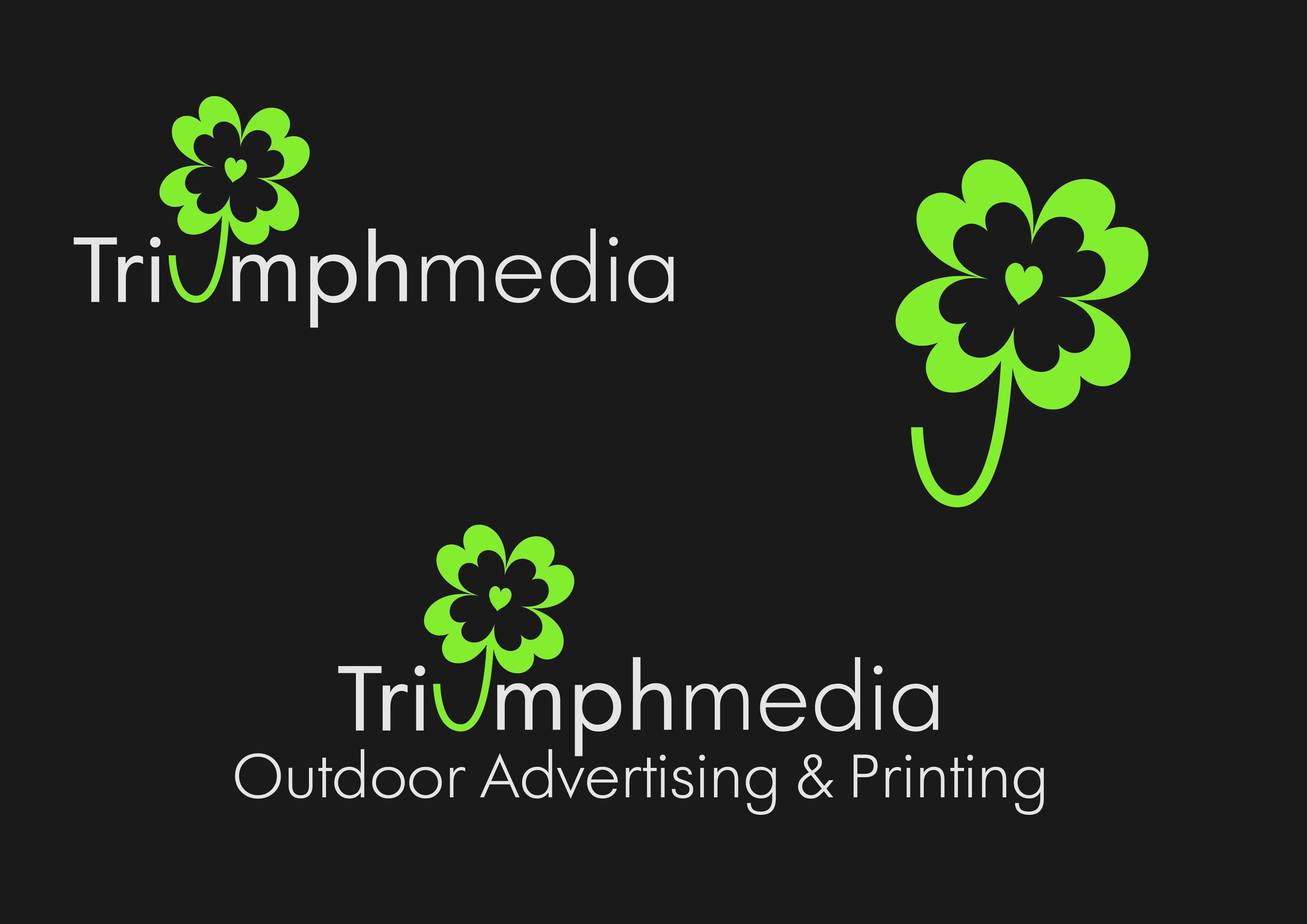 Разработка логотипа  TRIUMPH MEDIA с изображением клевера фото f_5071b03febb49.jpg