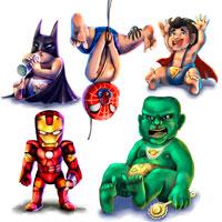 Персонажи Marvel/DC child