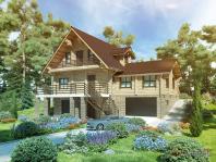 Деревянный  загородный дом с великолепным планировочным решением
