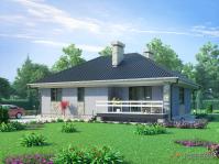 Проект компактного уютного жилого дома для проживания небольшой семьи