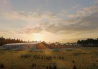 3d визуализация фермы.