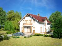 Загородный дом из твинблока