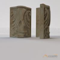 3d визуализация декоративных элементов камина